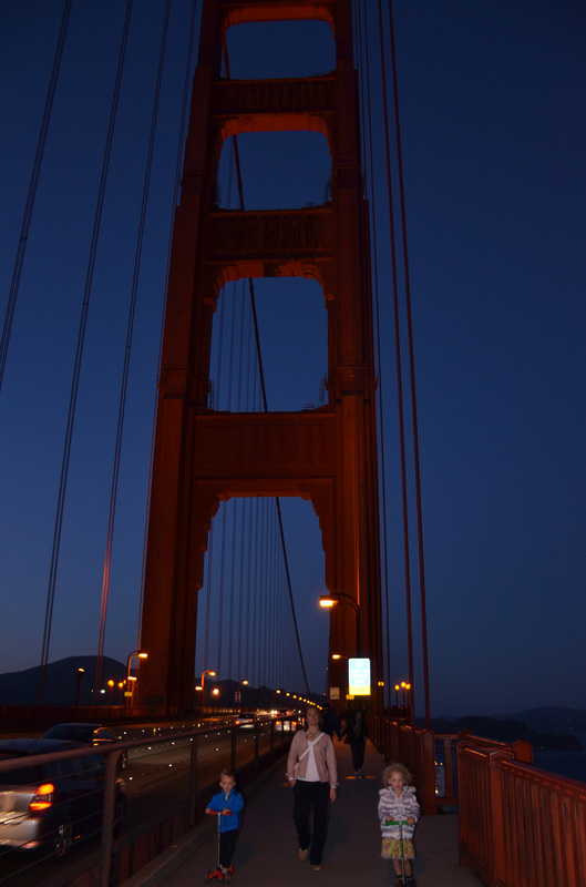Our sunset walk across Golden Gate Bridge.