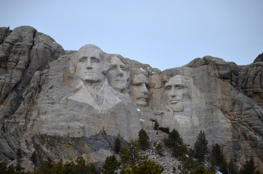 Mount Rushmore... far less impressive than we expected. It's just not that big really! But we'll giv