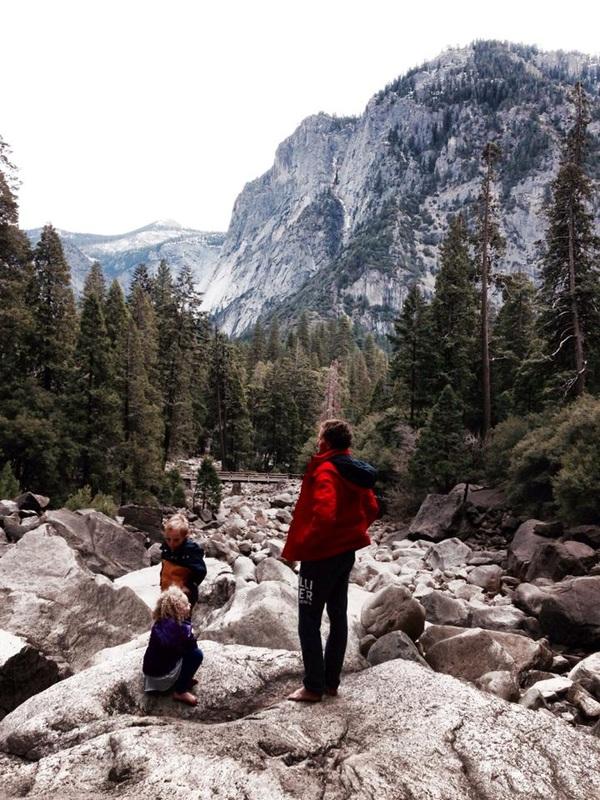 Bouldering in Yosemite.