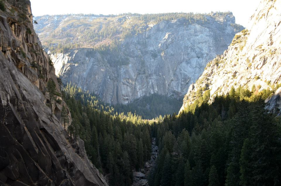 The view of the valley from half way up our epic hike in Yosemite.
