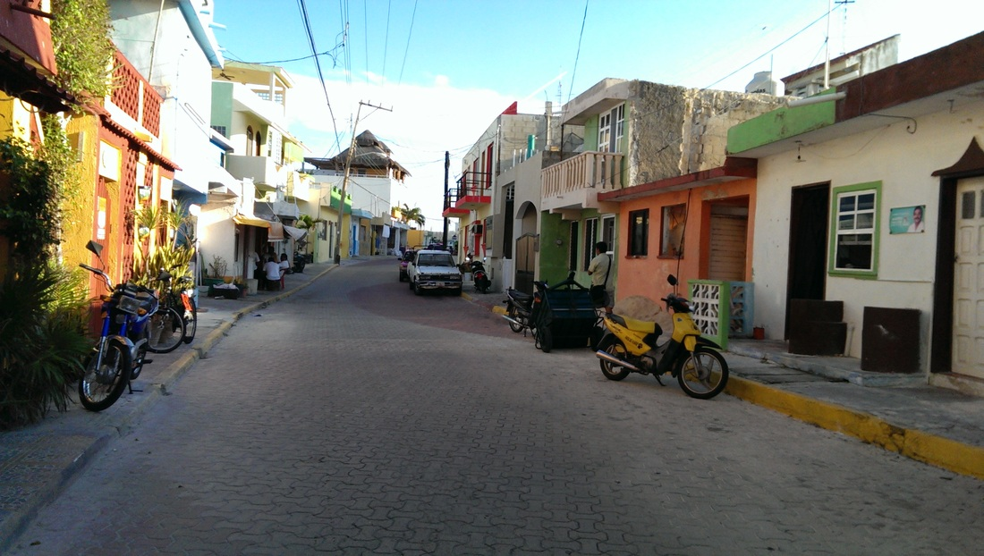 Isla Mujeres - still a small village feel.