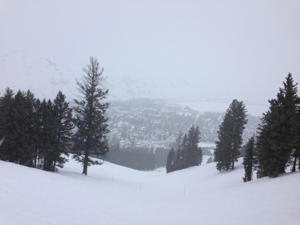 A view of Jackson from the ski slopes.