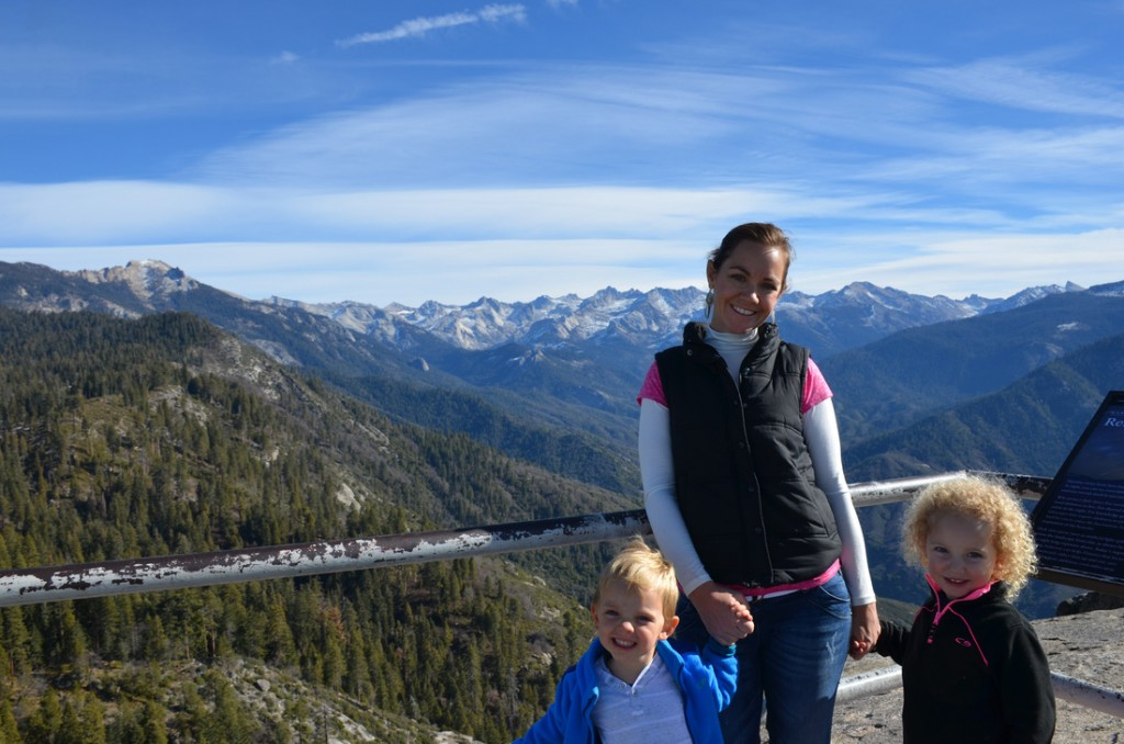 On top of Moro Rock in Sequoia National Park. Freaky high on a rock that just drops away on either s