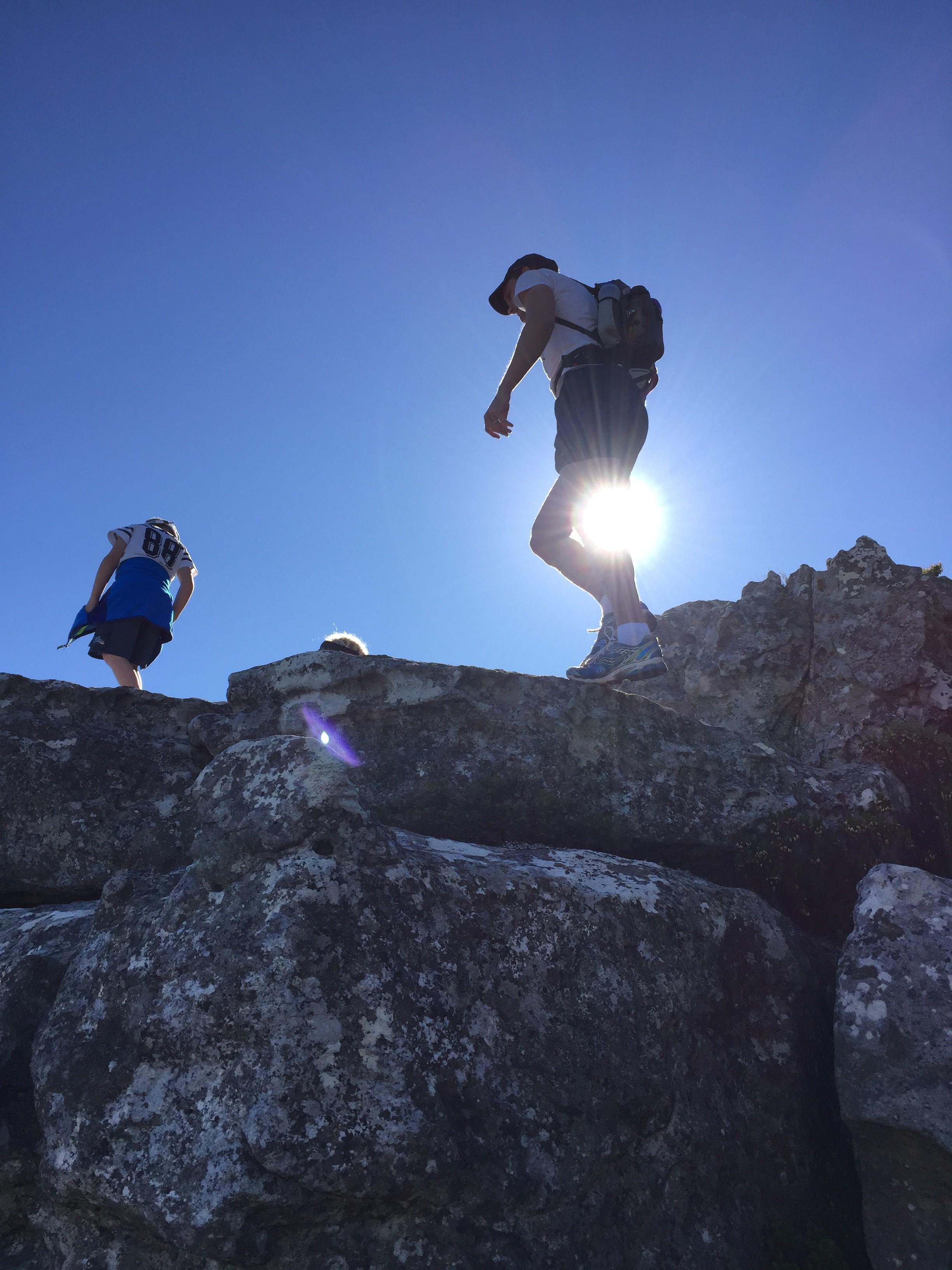 Climbing the final rise.