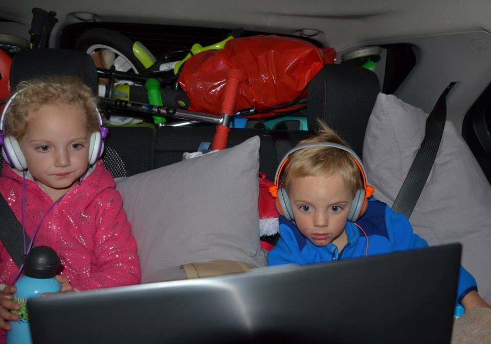 How do we keep our kids buckled in and *happy* on a long trip?