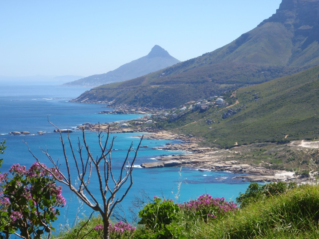 The view above Sandy Bay towards Lions Head.