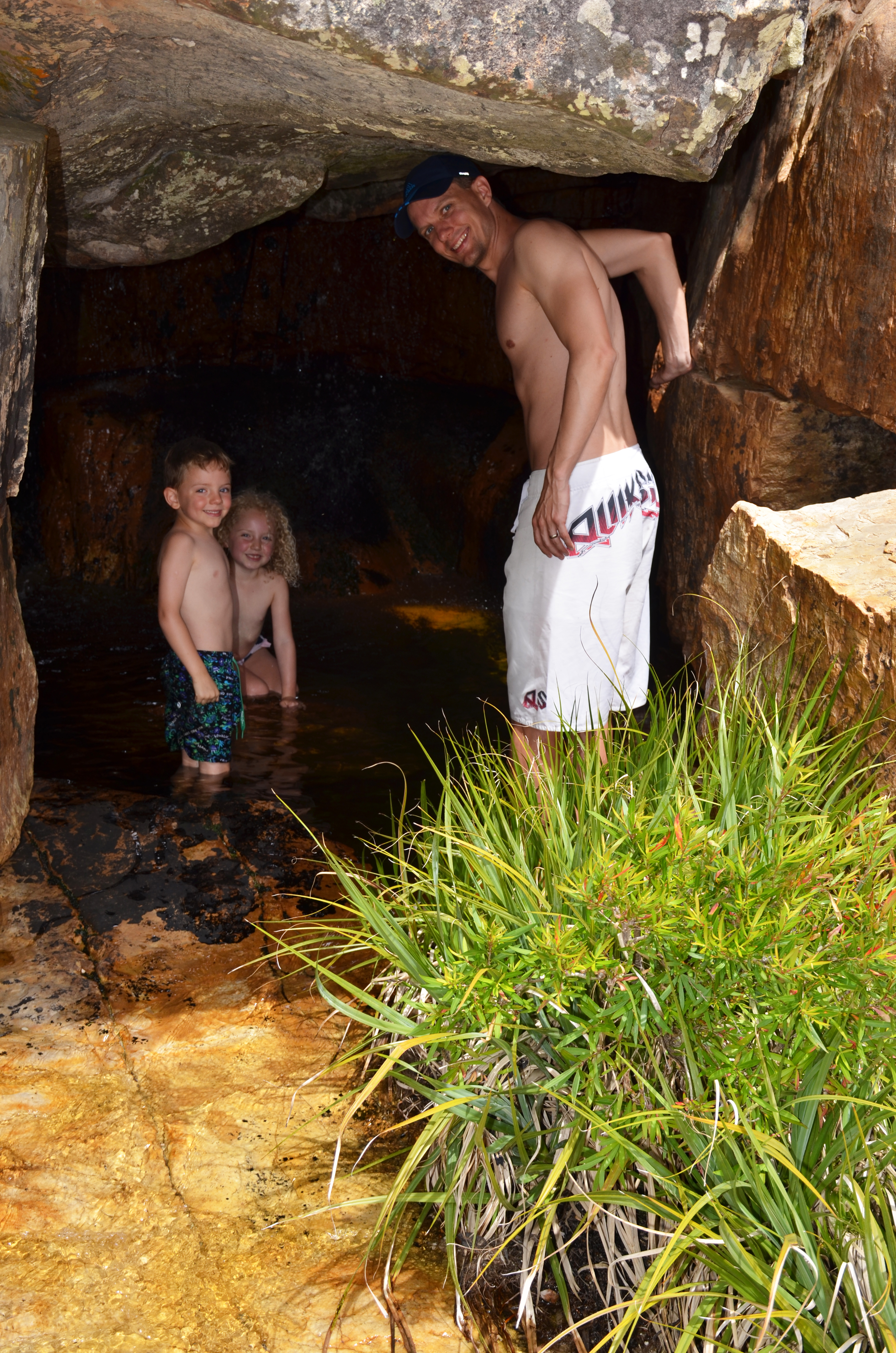 Playing in Rockpool Caves