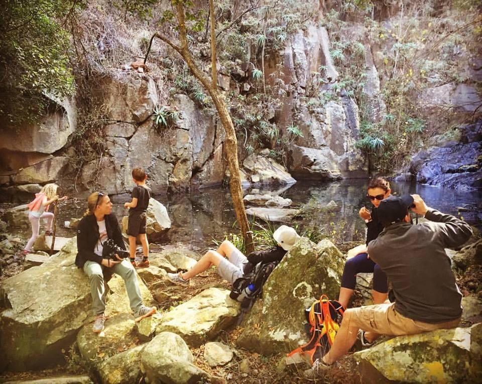 Waterfall picnics