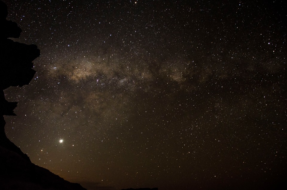The milky way from the top of Tafelberg